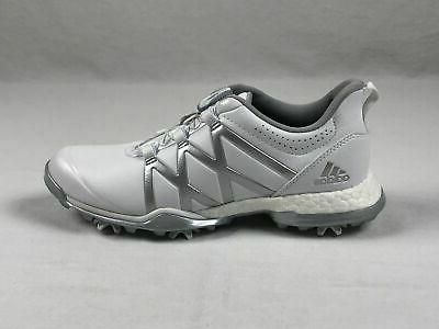 adidas Boa Golf Shoes White/Silver NEW