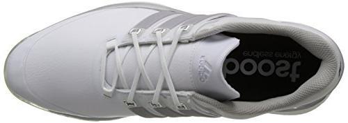 adidas Men's Adipower Golf White/Silver Metallic/Running 10 M US