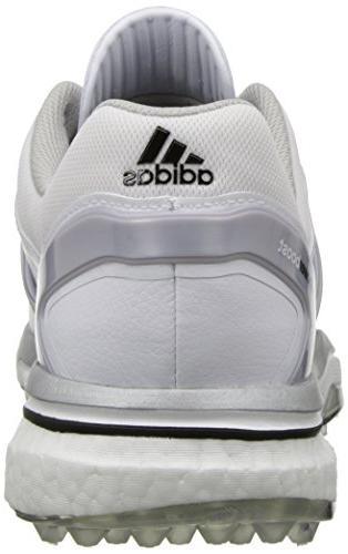 adidas Adipower Boost Golf Running Metallic/Running White, US
