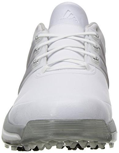 adidas Golf Shoe, Running Metallic/Running White, US