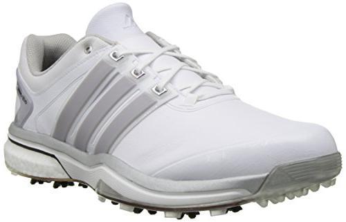 adidas Adipower Boost Golf Running Metallic/Running 10 M US