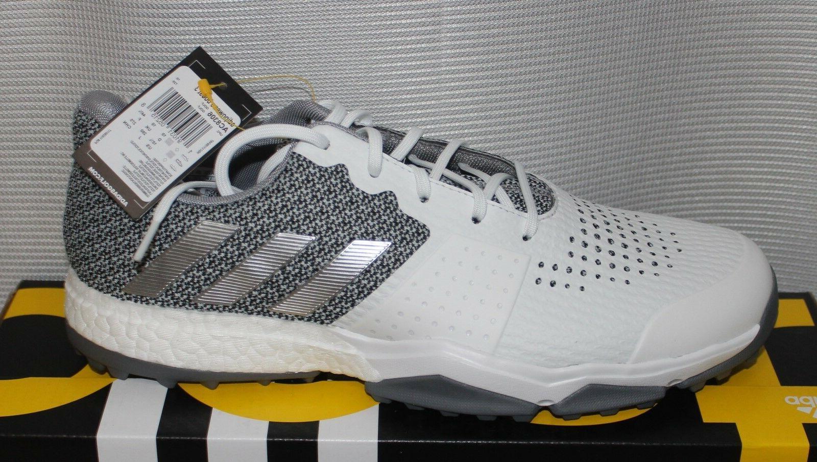 Adidas Boost - White Silver Metallic
