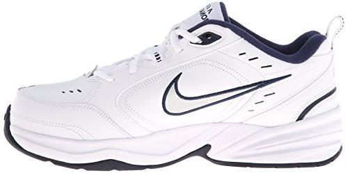 Nike Men's AIR -8; White Metallic Silver-Midnight Navy
