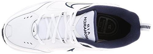 Nike Men's MONARCH RUNNING SHOES -8; Silver-Midnight
