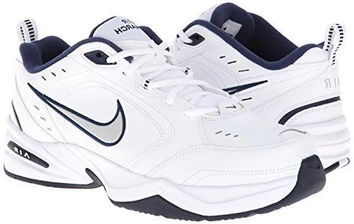 Nike Men's NIKE MONARCH -8; Silver-Midnight Navy