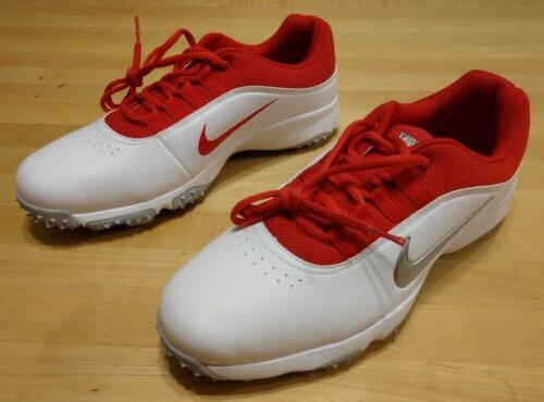 Nike Air Golf Shoes White Red Size Wide 11.5W
