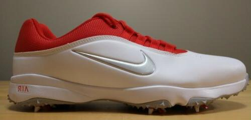 air rival 4 golf shoes white red