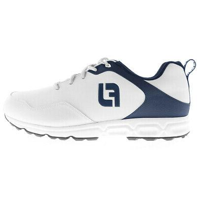 athletics spikeless golf shoes white blue choose