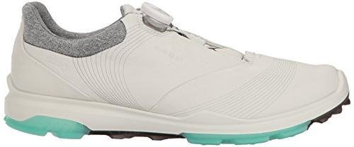 ECCO Women's Biom 3 Golf Shoe, White/Emerald, EU