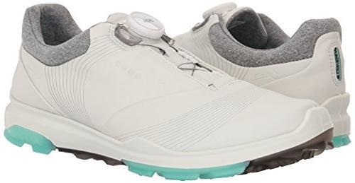 ECCO Biom 3 BOA Shoe, White/Emerald, 38 EU