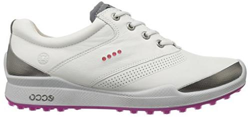 ECCO Biom Hybrid Golf Shoe, White/Candy, EU/7-7.5 M US