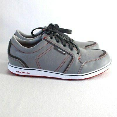 Ashworth ADC Shoes Sz 8.5 Gray Leather