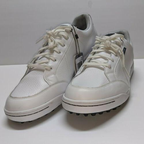 Ashworth - Spikeless Shoes - White Leather Size 15