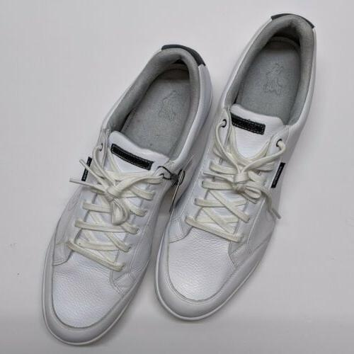 Ashworth - Men's Spikeless White Leather G54223.