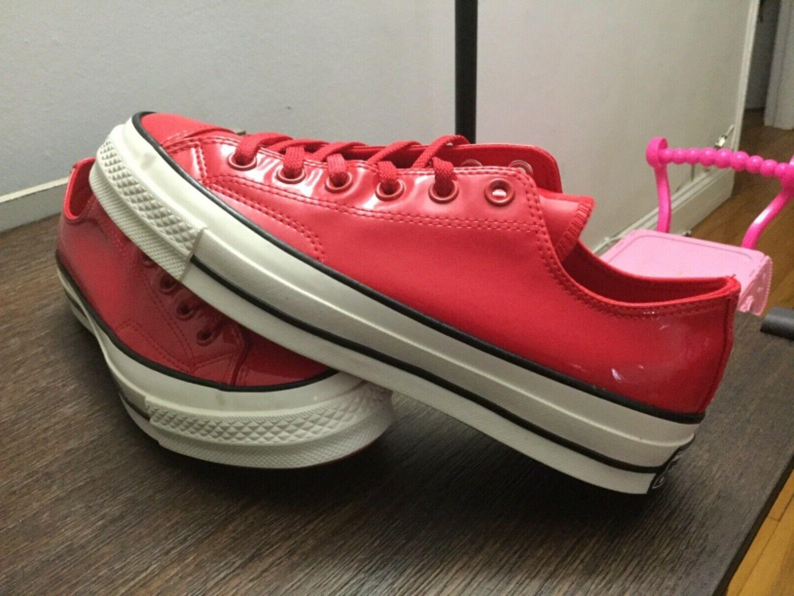 Converse Chuck Taylor All Star Leather Cherry Red 6-8.5