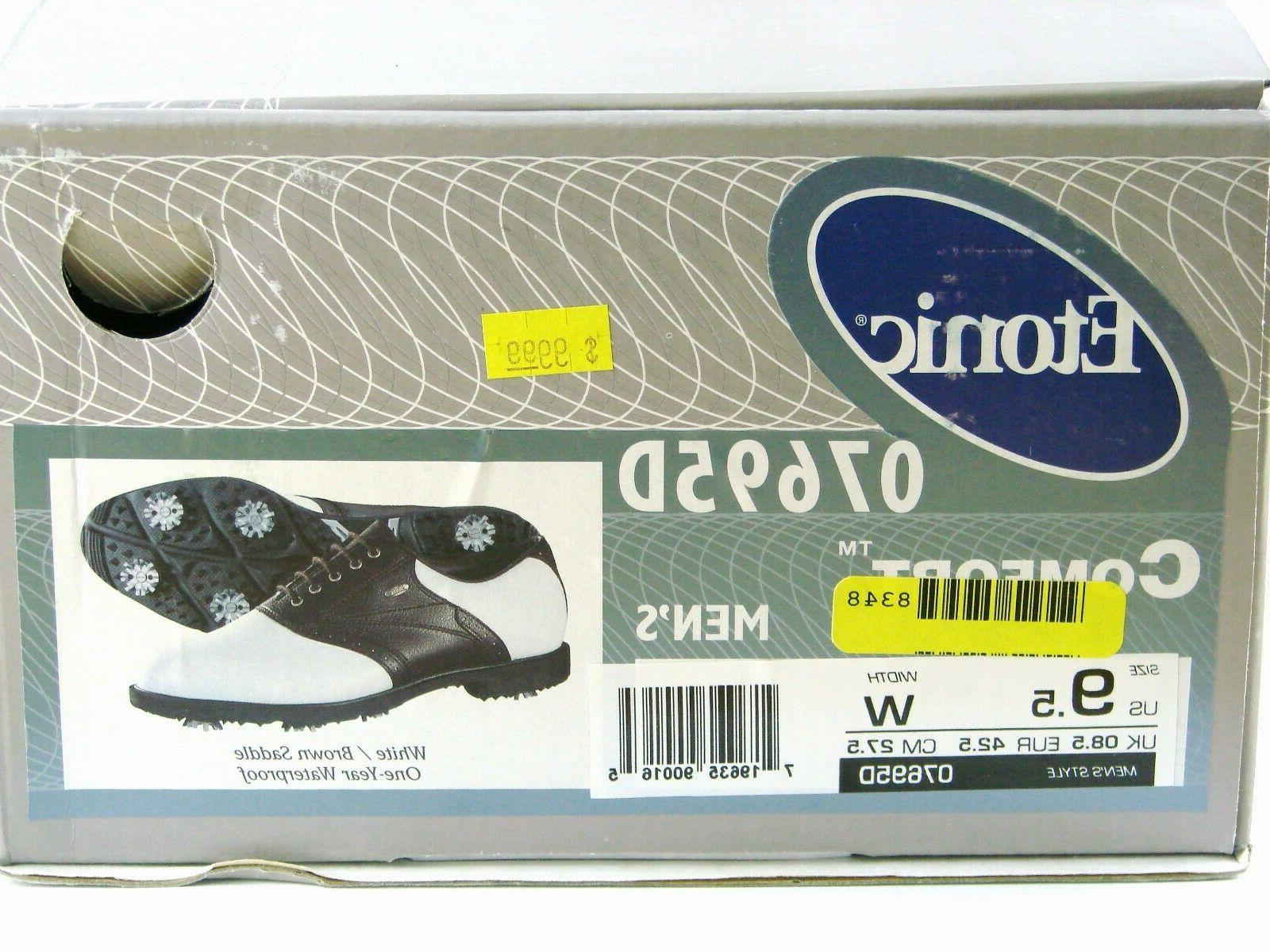 Etonic Comfort Mens Wide Brown Cleats Waterproof