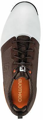 FootJoy Fit Shoes 54096 White/Brown New - Size!