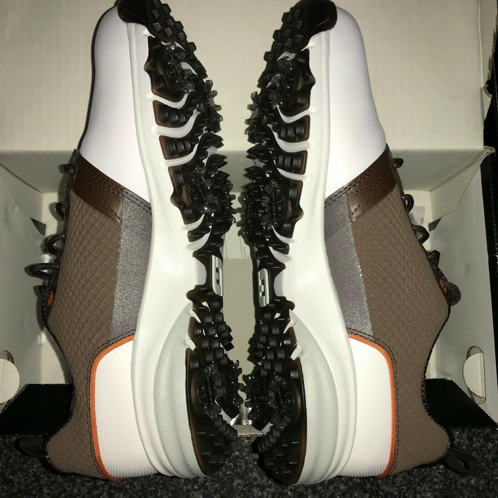 FootJoy Contour Golf Shoes White/Brown 8, 9, 9.5, 10, 10.5,