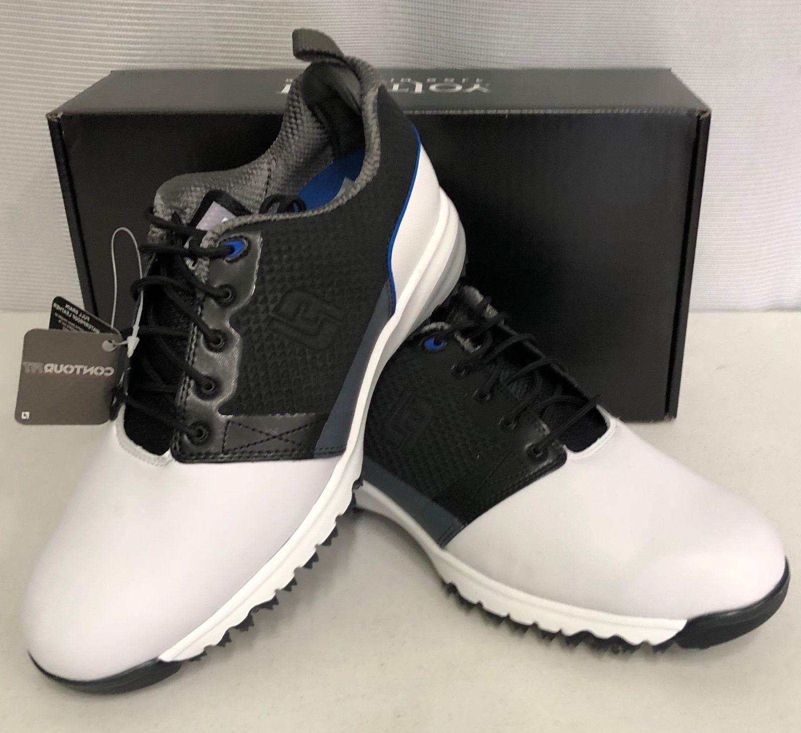 contourfit mens golf shoes white black 54097