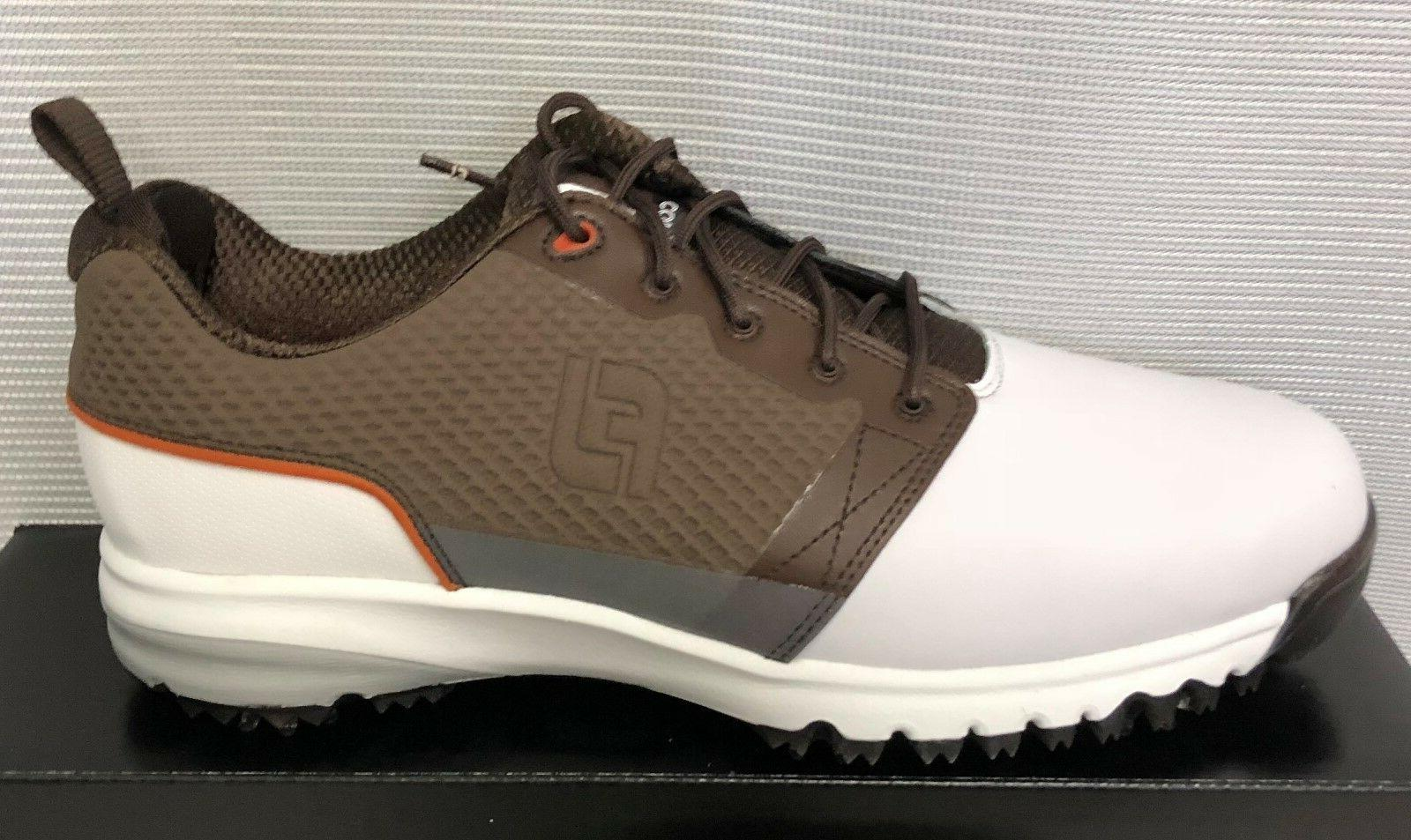FootJoy Mens Shoes - White Brown - #54096 - New