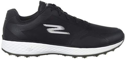 Skechers Women's Fit Golf Shoe, Black/White, 8.5