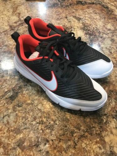 Nike Explorer 2 Mens Golf Shoes Max Orange White Black 84995