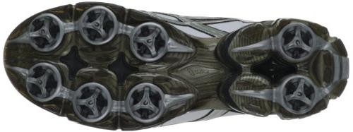 ASICS Golf Shoe,Black/Silver,11 M