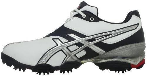 ASICS 3 Golf Shoe,White/Silver/Black,11 US
