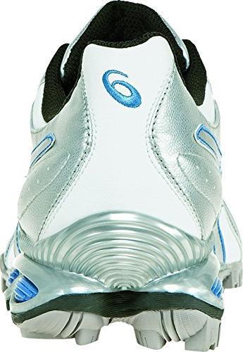 ASICS Women's GEL-Linksmaster Golf Shoe,White/Silver/Carolina Blue,10 M