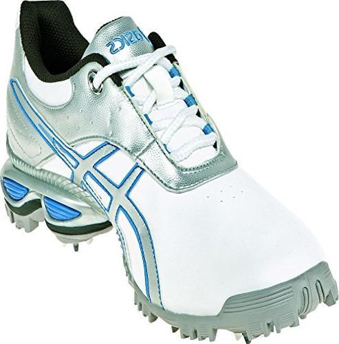 ASICS GEL-Linksmaster Shoe,White/Silver/Carolina Blue,10 M
