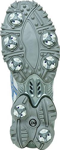 ASICS Women's Golf Shoe,White/Silver/Carolina