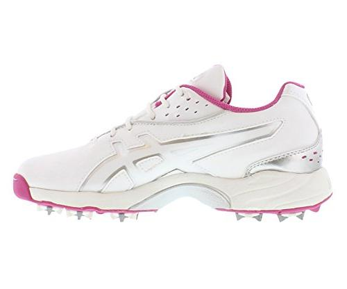 ASICS Golf Shoe,White/Orchid/Silver,9.5