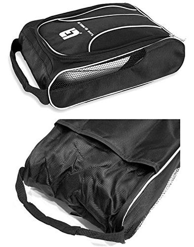 Genuine Bag Zipped Sports Bag Shoe - Black Color