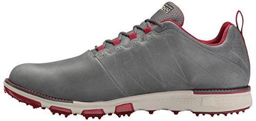 Skechers Men's Elite 3 Lx Shoe,Charcoal/Red,10 M US