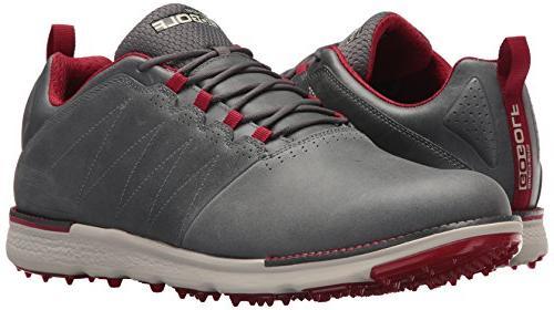 Skechers Men's Go Golf Elite 3 Lx Shoe,Charcoal/Red,10 M