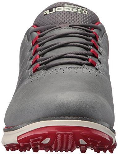 Skechers Men's Elite Lx Shoe,Charcoal/Red,10 M US