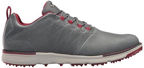 Skechers Men's Elite Shoe,Charcoal/Red,10