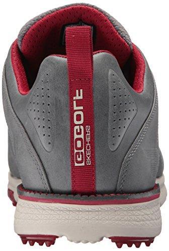 Skechers Men's Elite Shoe,Charcoal/Red,10 US