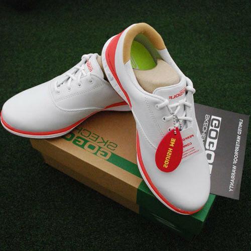 Skechers GOgolf Women's Elite V.2 Shoes White/Coral Size 148