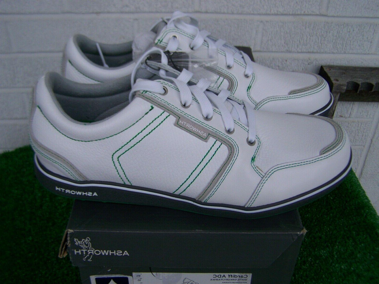 Ashworth White & Green Shoes US Size 10 Medium NEW