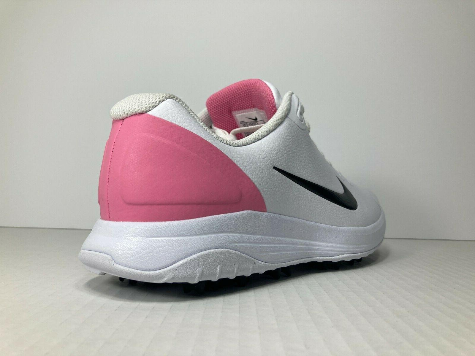 NIKE GOLF INFINITY Mens Golfing Shoes Spikes White Pink -