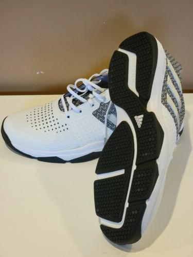Adidas Mens S Bounce Shoes Size 11 White/Silver