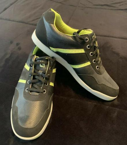 golf shoes black and lime green