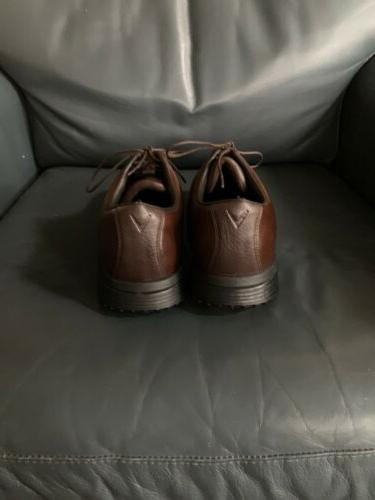 Callaway Shoes Cleats Brown Leather Men's