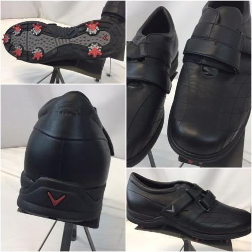 golf shoes sz 12 men black leather