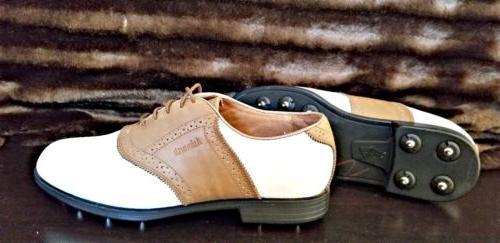 kingston mens size 8 golf shoes white