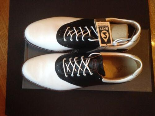 kingston mens sz 15 golf shoes white