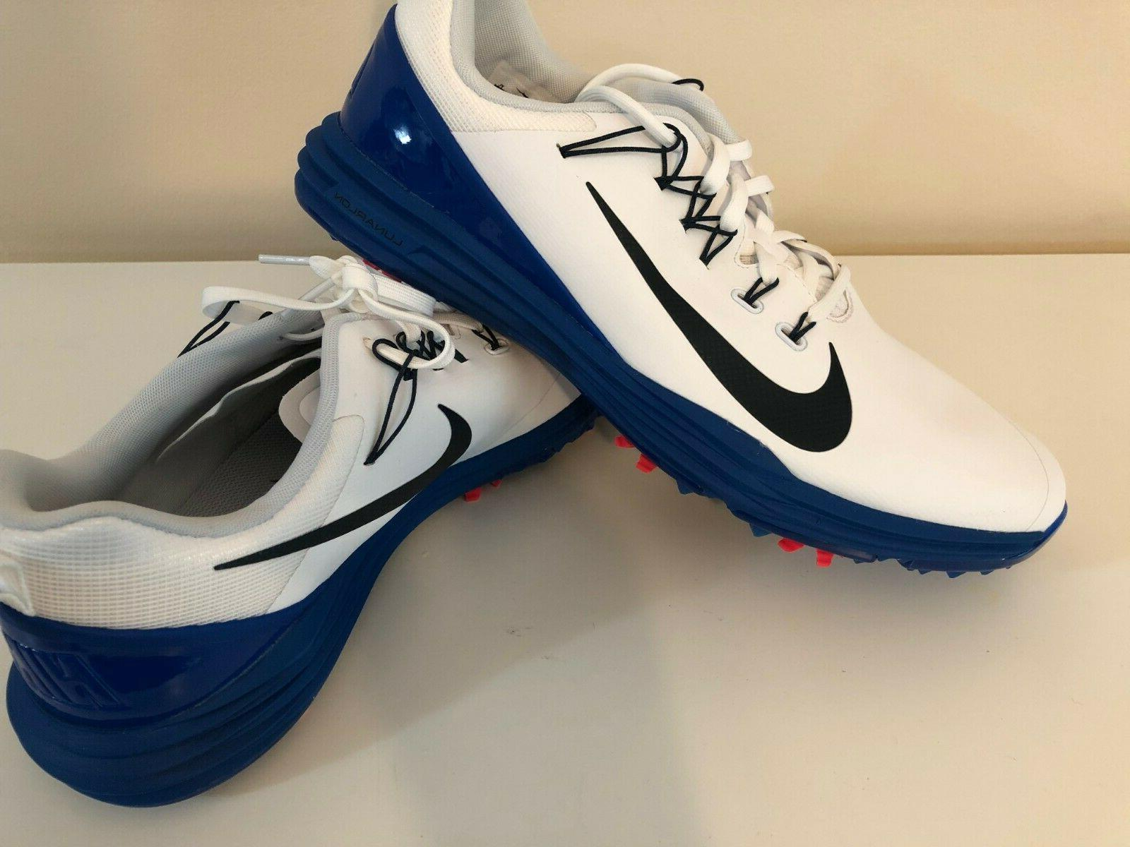lunar command 2 golf shoes cleats white