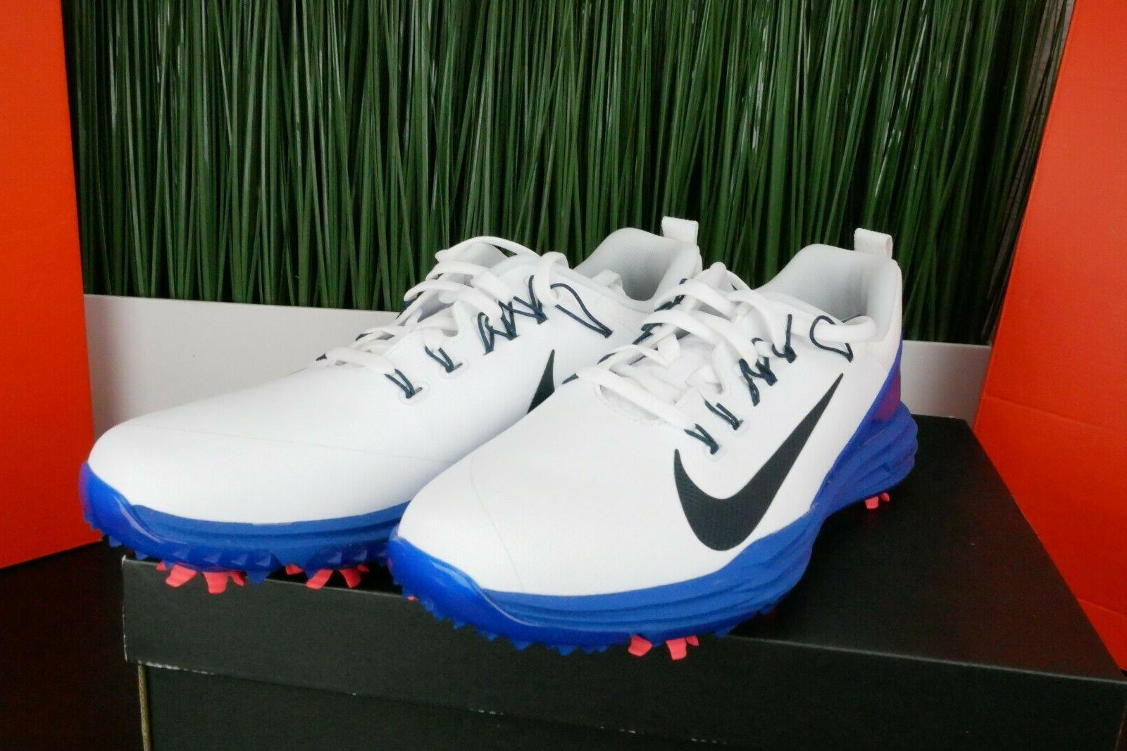Nike Lunar Golf Shoes White New Mens 849968-103 Size 7