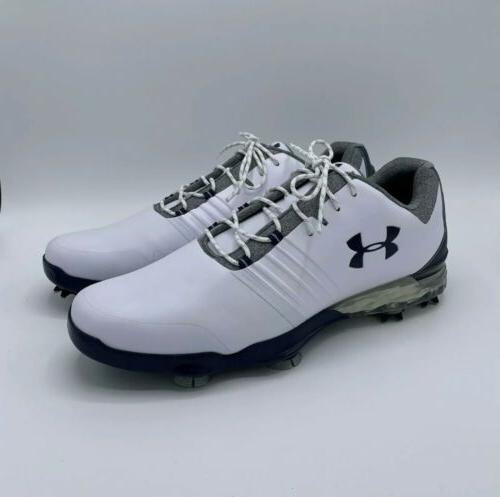 Under Armour Match Play Golf Shoes 3019893-104 White/Steel B